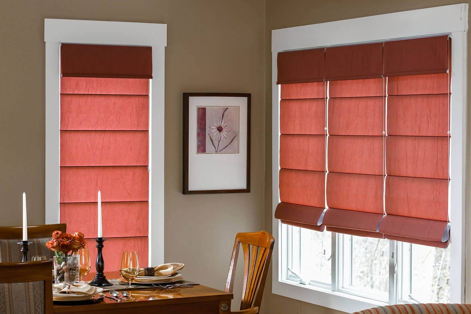 Roman Blinds - Dining Room