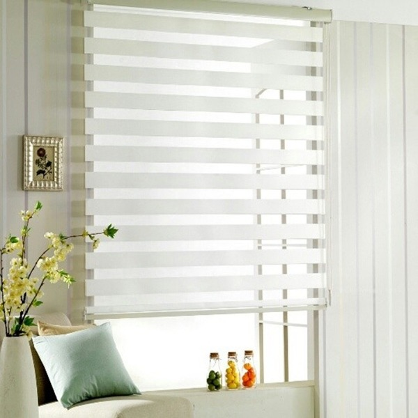 Zebra Roller Shades in Calgary location